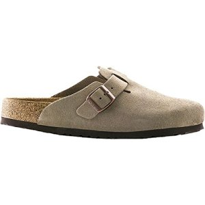 Birkenstock Unisex Boston Soft Footbed, Taupe Suede