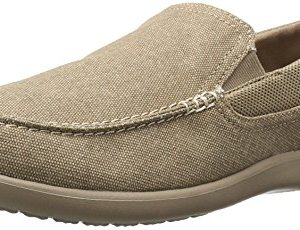 crocs Men's Santa Cruz 2 Luxe M Slip-On Loafer, Khaki/Khaki