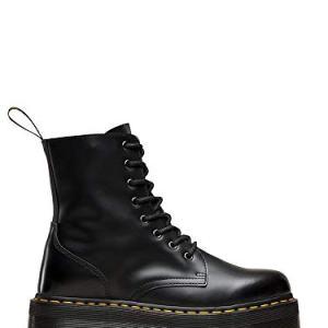 Dr. Martens Women's Jadon Boot,Black Polished Smooth