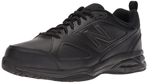 New Balance Men's Casual Comfort Training Shoe, Black Leather