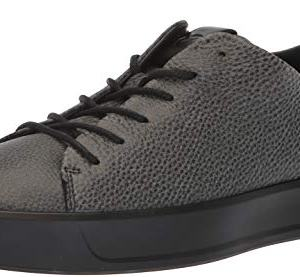ECCO Men's Soft 8 Tie Fashion Sneaker, Black Shine Bright