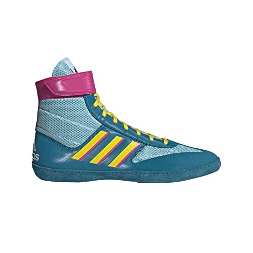 adidas Men's Combat Speed Wrestling Shoe, Light Aqua/Yellow/Teal