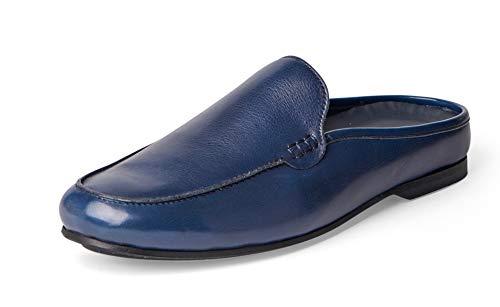 Carlos Santana PLANEO Leather Slip in Comfort Slides   Mules (9 D US, Navy Blue)