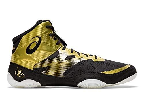 ASICS Men's JB Elite IV Wrestling Shoes, Rich Gold/Black