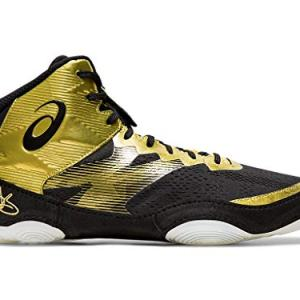 ASICS Men's JB Elite IV Wrestling Shoes, Rich Gold/Black