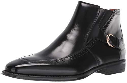 STACY ADAMS Men's Patton Side-Zip Dress Boot Ankle, Black