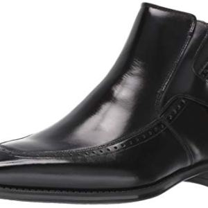 STACY ADAMS Men's Patton Side-Zip Dress Boot Ankle, Black