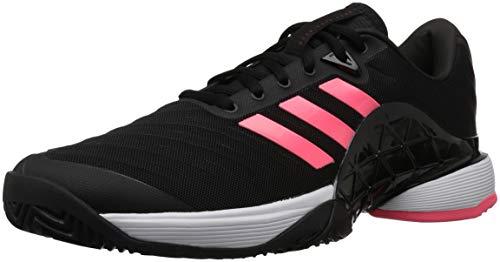 adidas Men's Barricade 2018 Tennis Shoe, Black/Black/Flash Red