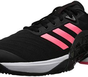 adidas Men's Barricade 2018 Tennis Shoe, Black/Black/Flash Red