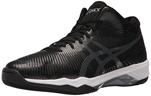 ASICS Mens Volley Elite FF MT Volleyball Shoe, Black/Dark Grey/White