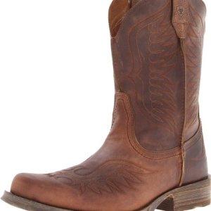 Ariat Men's Rambler Phoenix Western Cowboy Boot, Distressted Brown
