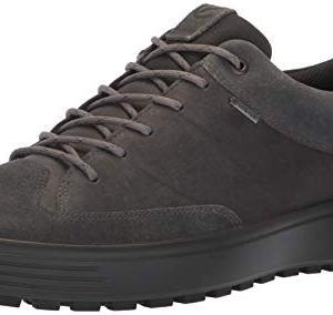 ECCO Men's Soft 7 TRED Low Gore-TEX Sneaker, Magnet Suede/Magnet Nubuck
