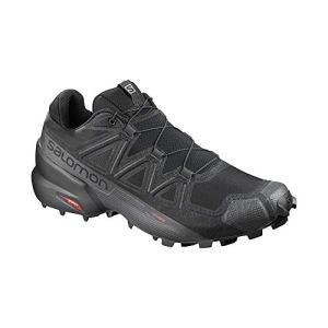 Salomon Men's Speedcross 5 Trail Running Shoes, Black/Black/PHANTOM