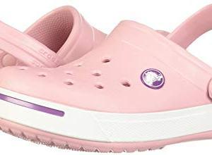 Crocs Kids Crocband II Slip On Clog Petal Pink/Dahlia Size