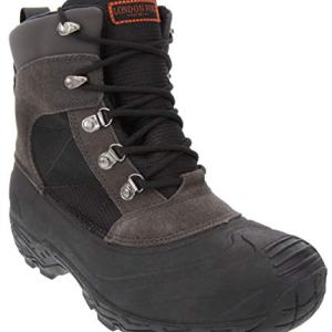 LONDON FOG Mens Woodside Waterproof and Insulated Cold Weather Snow Boot