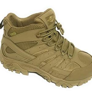 Merrell Mens Moab 2 Mid Tactical Wp, Color: Coyote, Size: 10.5