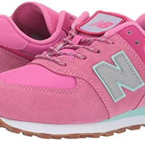 New Balance Girls Lace-Up Sneaker, Light Carnival