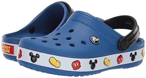 Crocs Unisex-Kid's Crocband Mickey Clog, Blue Jean