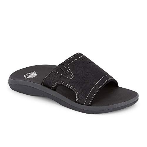 dockers Mens Landing Casual Slide Sandal Shoe, Black