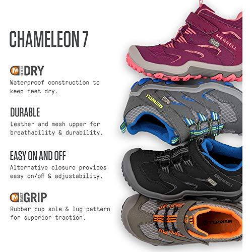 Merrell Kids' Unisex M-Chameleon 7 Access Mid A/C Wtrpf Hiking Shoe