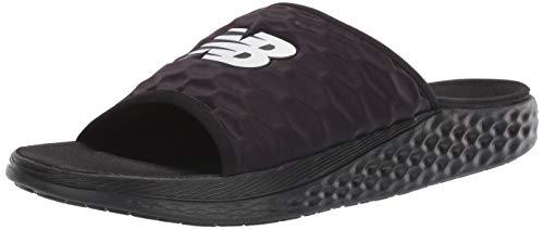 New Balance Men's Hupo'o V1 Fresh Foam Slide Sandal, Black/ORCA