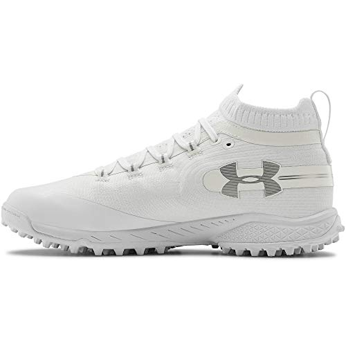 Under Armour Men's Spotlight Turf Lacrosse Shoe, White