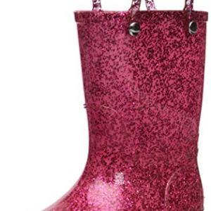 Western Chief Girl's Glitter Waterproof Rain Boot, Pink