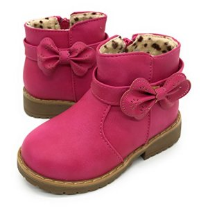Blue Berry EASY21 Girls Fashion Cute Toddler/Infant Winter Snow Boots