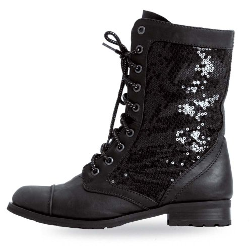 Gia Mia Youth Combat Boot Black Youth 2