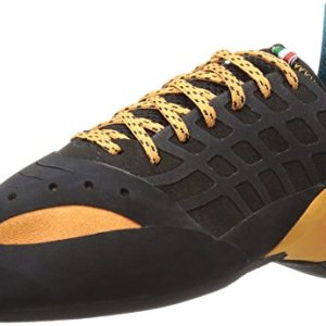 SCARPA Instinct Climbing Shoe, Black/Orange, 42.5 EU/9.5 D US