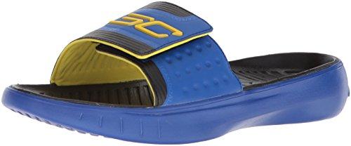 Under Armour Men's Curry 4 Slides Sandal, Team Royal