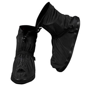 VXAR Rain Shoe Cover Waterproof Overshoe Black XL