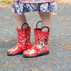 Disney Girls Minnie Mouse Character Printed Waterproof Easy-On Rubber Rain