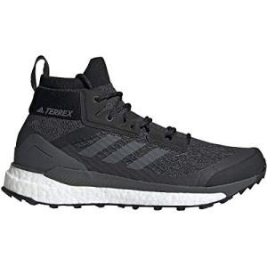 adidas Men's Terrex Free Hiker Hiking Boot, Black/Grey/Orange