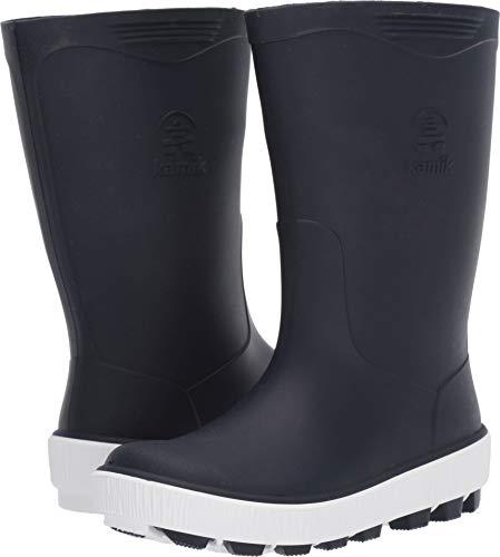 Kamik Unisex-Kid's Riptide Rain Boot, Navy/White
