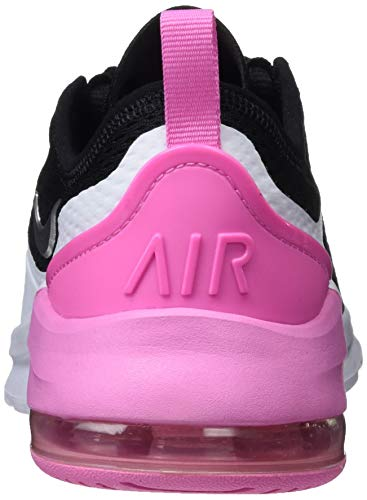 Nike Girl's Air Max Motion 2 Shoe Black/Metallic Silver/Psychic Pink/White Large Max Air unit in heel delivers plush cushioning. Breathable mesh upper has no-sew overlays for added durability. Large heel clip inspired by the Air Max 270. Dual-density foam cushions your foot. Rubber on the heel adds durability. The Nike Air Max Motion 2 combines a classic mesh upper with inspiration from the Air Max 270. A large Max Air unit rounds out this shoe with max cushioning and max style.