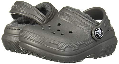 Crocs Kids' Classic Lined Clog, Slate Grey/smoke
