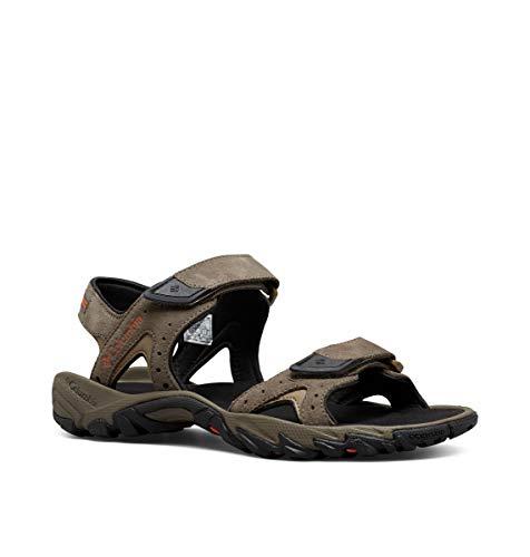 Columbia Men's SANTIAM 2 Strap Sport Sandal, mud, Heatwave