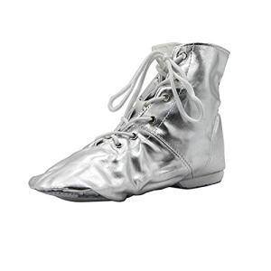 PU Women's Jazz Dance Boots Silver