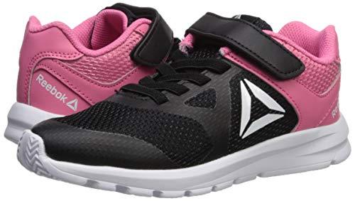 Reebok Girls' Rush Runner Alternate Closure Running Shoe, Black/Pink