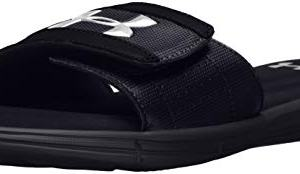 Under Armour Men's Ignite V Slide Sandal, Black (001)/White, 13