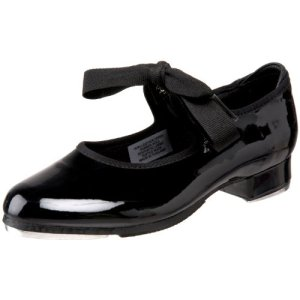 Bloch Girls Dance Annie Tyette Tap Shoe, Black Patent