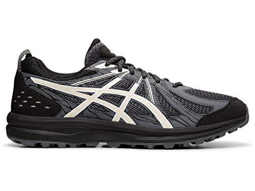 ASICS Men's Frequent Trail Running Shoes, 10.5M, Black/Birch