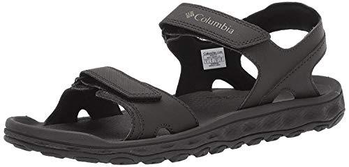 Columbia Men's Buxton 2 Strap Sport Sandal, Black, Charcoal