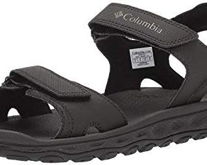 Columbia Men's Buxton 2 Strap Sport Sandal, Black, Charcoal