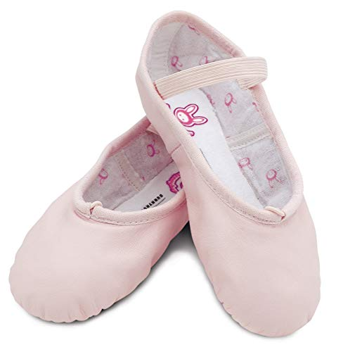 Bloch Girls Dance Bunnyhop Full Sole Leather Ballet Slipper/Shoe, Pink