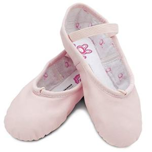 Bloch Girls Dance Bunnyhop Full Sole Leather Ballet Slipper/Shoe, Pink