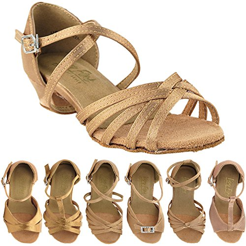 """50 Shades of Girls Dance Shoes: 1670CG:Brown Satin:1.5"""""""