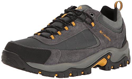 Columbia Men's Granite Ridge Waterproof Hiking Shoe, Dark Grey, Golden Yellow, 10.5 D US