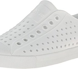 Native Unisex Jefferson Fashion Sneaker, Shell White/Shell White